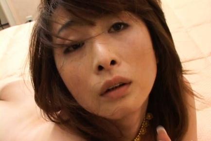 Eri Kikuchi Hot mature Asian model spreads her legs