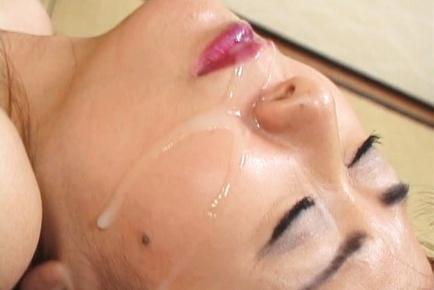 Maria Yuki Asian mature chick enjoys sucking cock