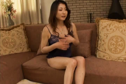 Mai Kozakura hot mature Asian chick is masturbated
