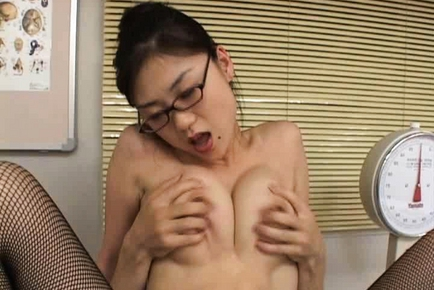 Amazing nurse is a hot mature gal with big tits