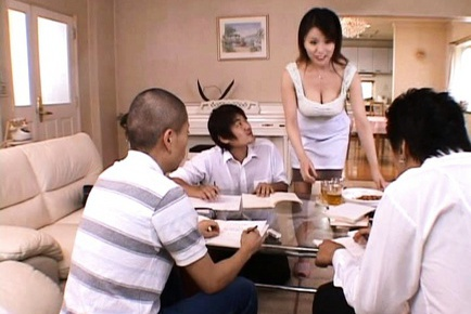Miki Sato Asian MILF has gangbang sex