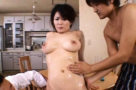Miki Sato Asian MILF has gangbang sex
