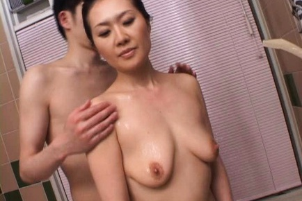 Mina Toujou Asian mature lady is oversexed housewife
