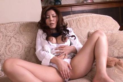 Sakiko Mihara Asian  masturbates