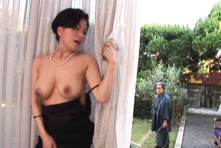 Horny Miki Sato Rubs Her Big Tits And Wet Pussy