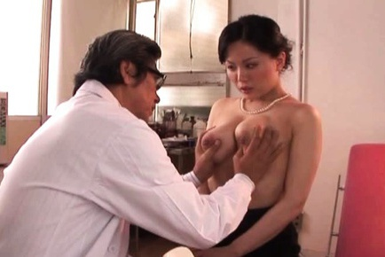 Miki Sato Rubs Her Big Breasts And Gets Fingered