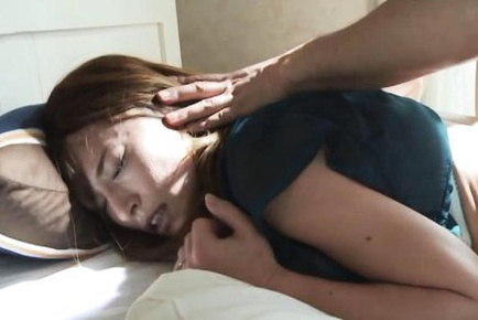 Aika miura getting wet while being watched her hairy pussy 2