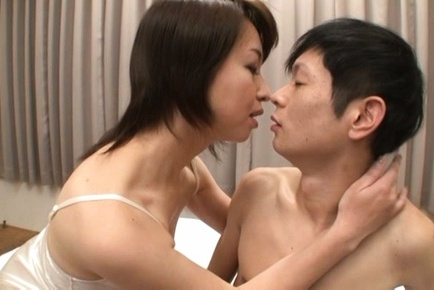 Alluring japanese hottie takes a fat dick up 5