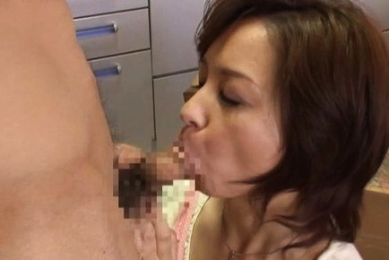 Foxy Japanese mature babe Kumi Kanzaki likes rear fuck