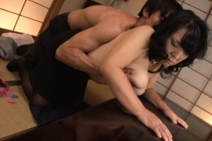 Busty mature Emiko Ejima enjoying doggy style fuck