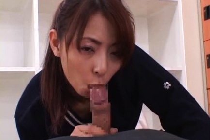 Japanese av model gets a lot of cum in alread 7