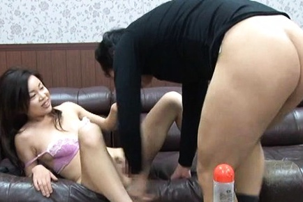 Amateur milf, Aota Yukiko fucked on the couch until exhaustion